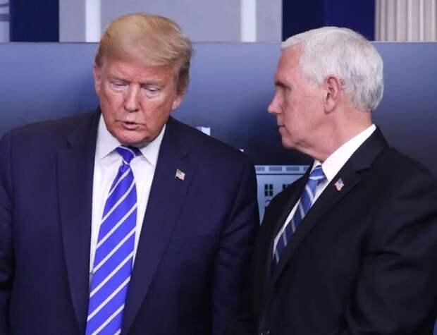 Пенс решил изолироваться от Трампа из-за коронавируса у своего пресс-секретаря