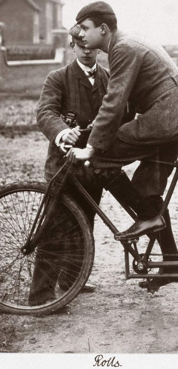В студенческие годы Чарльз всерьез увлекался велосипедными гонками rollce-royce, авиация, авто, автоистория, история, летчик, факты, чарльз роллс