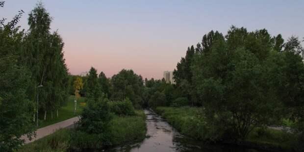 Сквер по Олонецкому проезду вошел в рейтинг лучших мест столицы для встречи заката