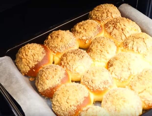 Бесподобные булочки с творожной начинкой