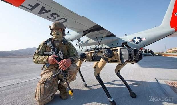 Собакообразный робот Spot идет в армию