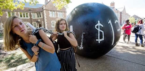 Высшее образование в США = неподъёмное бремя долга