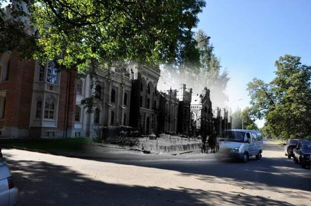 Петергоф 1943-2011 Императорские конюшни блокада, ленинград, победа