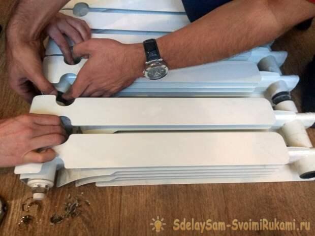 Замена радиаторов и отдельных секций в частном доме