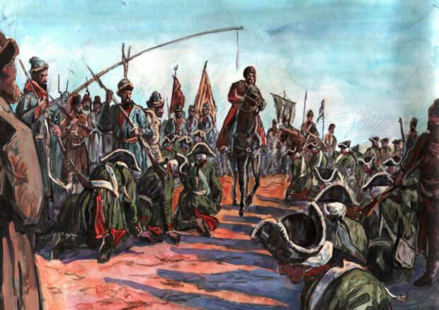 Крестьянская война под предводительством Емельяна Пугачева. <br>