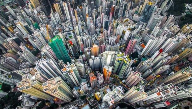 Гонконгский муравейник с высоты птичьего полёта