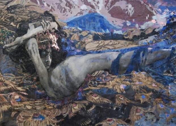 """Врубель """"Демон поверженный"""" 1902. Государственная Третьяковская галерея, Москва"""