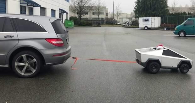 Самодельный Tesla Cybertruck против Mercedes-Benz