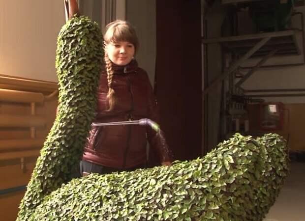 Как сделать живую садовую скульптуру своими руками