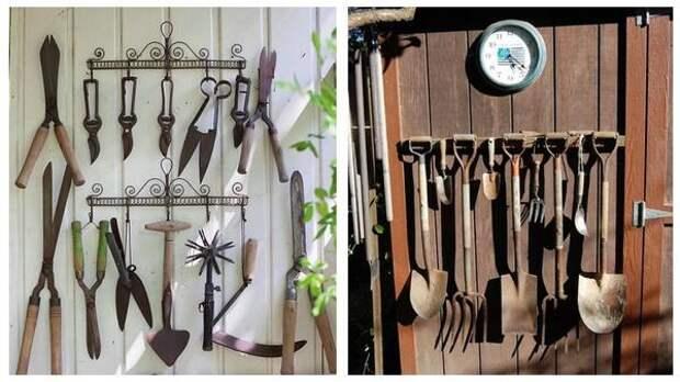 Если удачно подобрать и скомпоновать инструменты, такой объект может стать и элементом декора