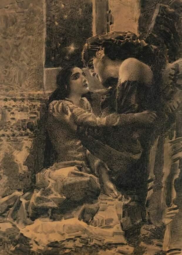 Врубель Демон и Тамара