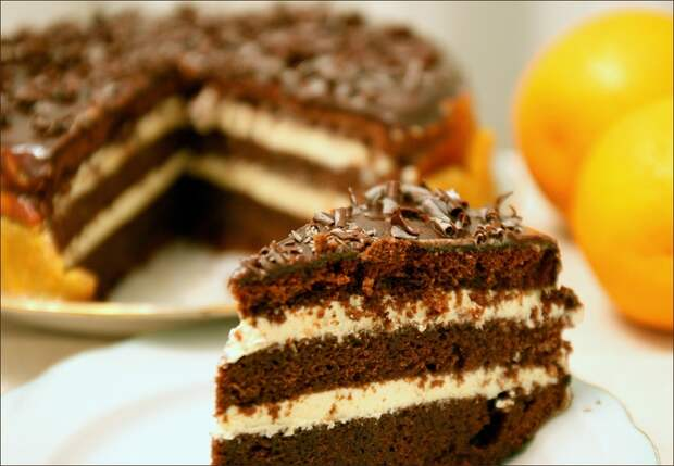 Восхитительный тыквенно-шоколадный пирог. \ Фото: liveinternet.ru.