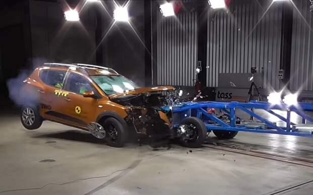 Краш-тест нового Renault Logan/Sandero показали на видео