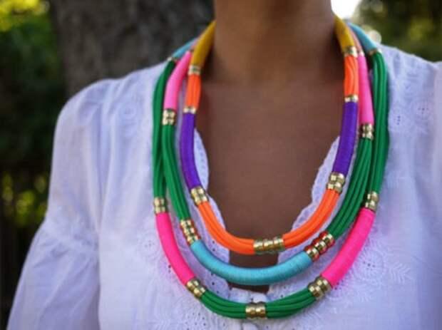 неоновые украшения ожерелье