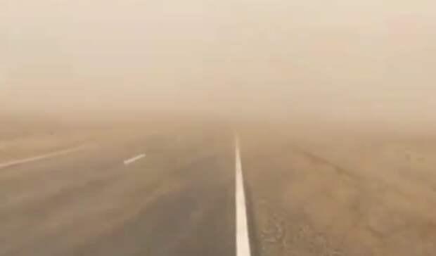 Пыльная буря снова обрушилась наСтаврополье
