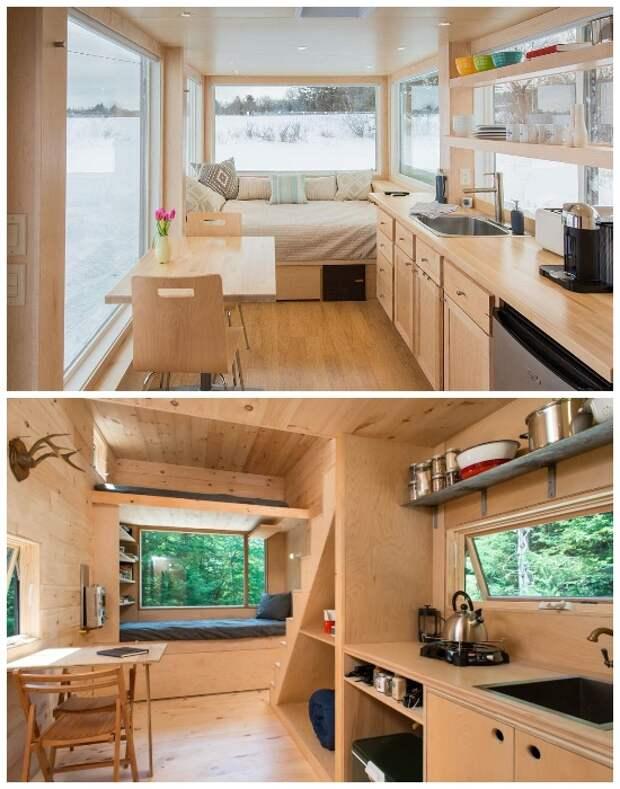 Кровать на подиуме – настоящее спасение для крошечных площадей. | Фото: roomble.com.