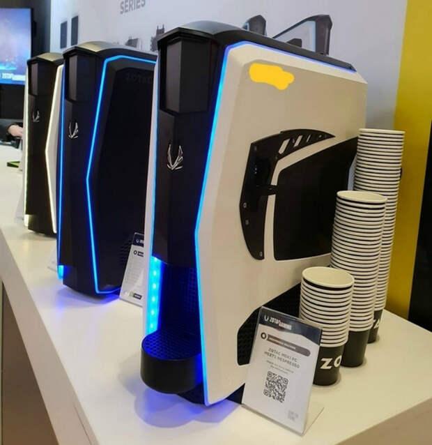 Процессор с кофеваркой.