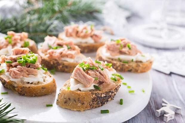 бутерброды на новый год 2019 с фото