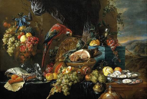 Художник Ян Давидс де Хем: загадка натюрморта с попугаем