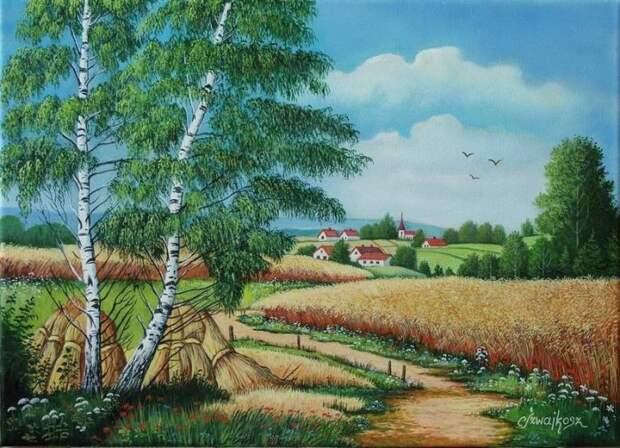 художник Zesław Szwajkosz картины - 09
