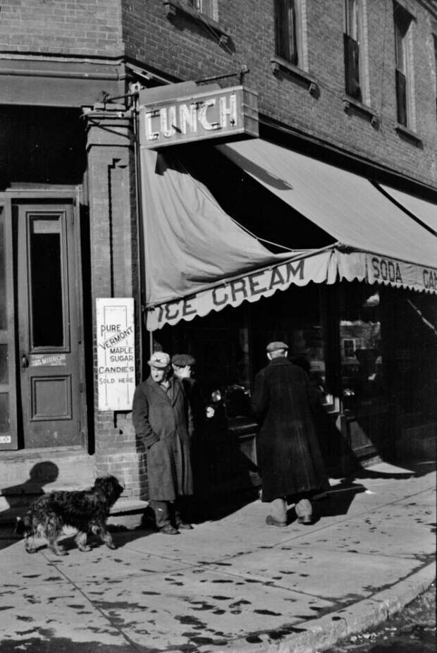Жители города Вудсток, Вермонт, март 1940 года