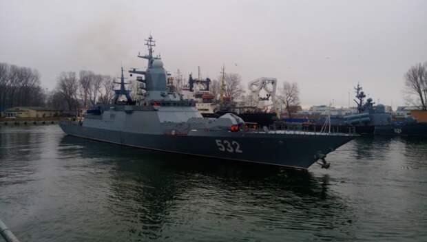 Корабли Балтфлота провели комплексные учения с боевыми стрельбами в Финском заливе
