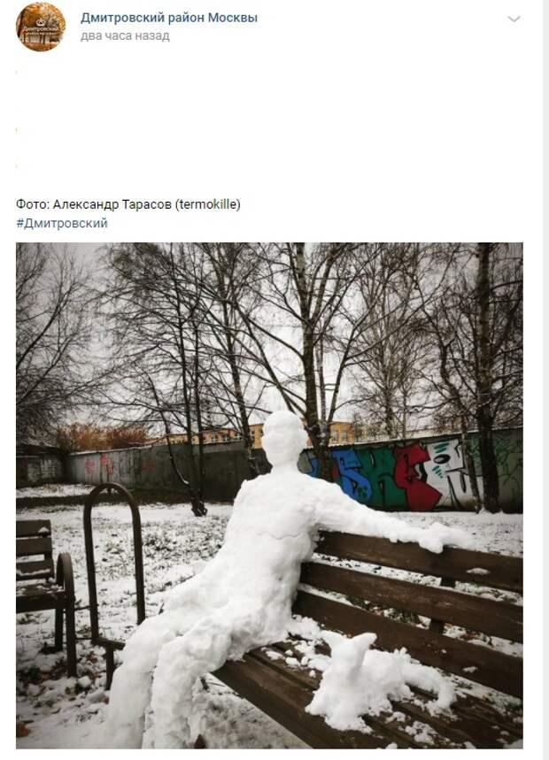 В Дмитровском обнаружили снежного человека