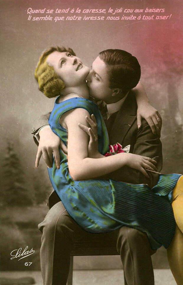 Французские открытки, в которых показано, как романтично целовались в 1920-е годы 4