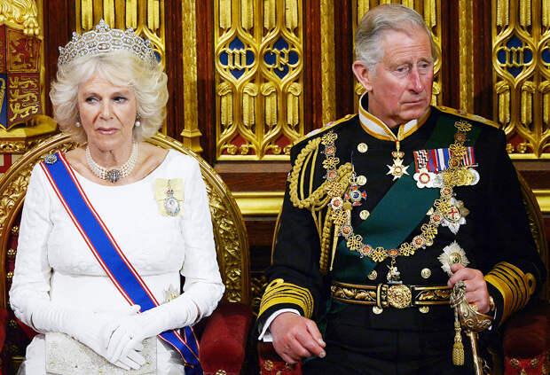Принц Чарльз и Камилла Паркер-Боулз на открытии парламента Великобритания, Лондон, 2013