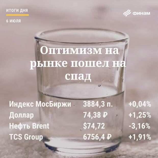 Итоги вторника, 6 июля: Нефть заинтриговала рынок