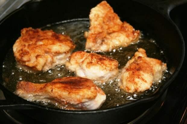 Как правильно жарить мясо с добавлением подсолнечного масла.