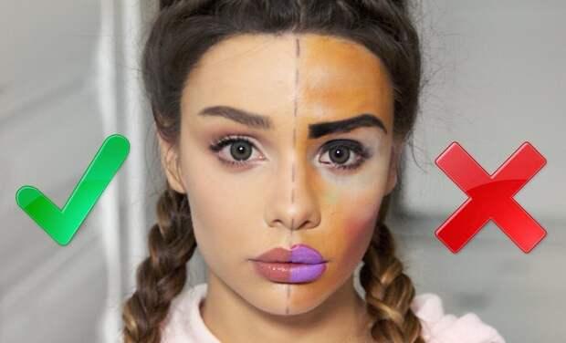 6 ошибок макияжа, которых следует избегать
