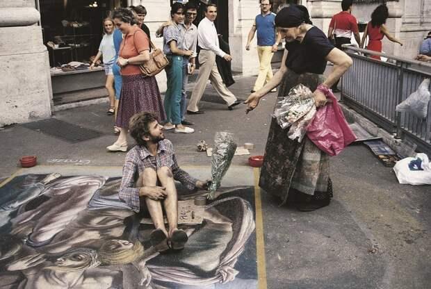 История одного уличного художника, рисующего на тротуарах