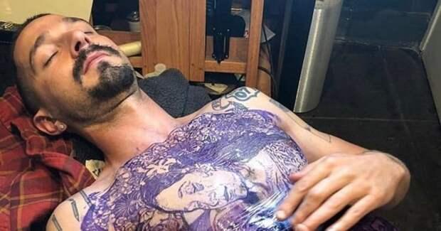 Шайа ЛаБаф набил огромную татуировку на груди ради роли