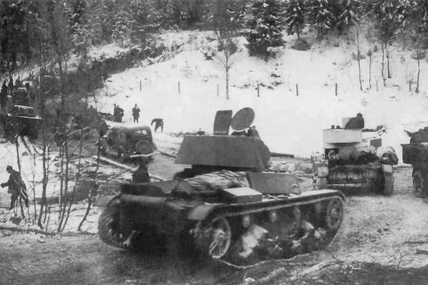 """Т-26 против """"Виккерсов"""": чем завершился первый танковый бой Финской войны"""
