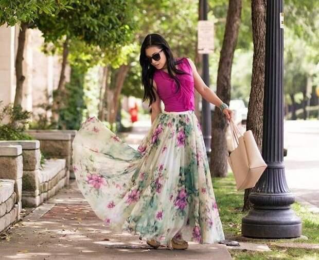 Модные юбки длины макси. Как выбрать и с чем носить