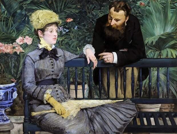 Почему на картине женщина ушла в себя, а мужчина хочет до неё достучаться? Сплошная загадка!
