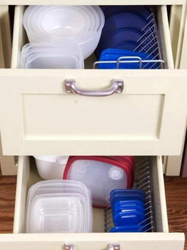 Хранения крышек на полке для дисков.