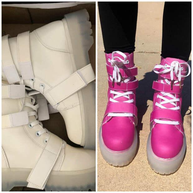 Ботинки, которые меняют цвет.