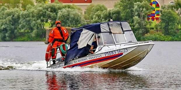 Московские спасатели на воде прошли проверку на готовность к летнему сезону