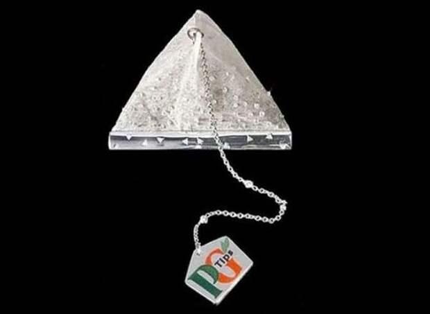 Самый дорогой чайный пакетик в мире, украшенный бриллиантами