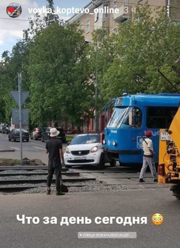 Трамваи на Космодемьянских «объявили войну» автомобилистам