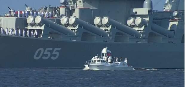 Корабль для президента: Владимир Путин примет парад ВМФ на катере 001