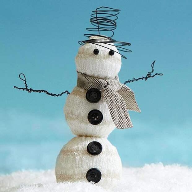 """Новогодние поделки """"Снеговик"""""""