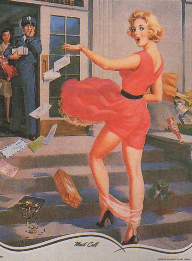Женские трусики против гравитации
