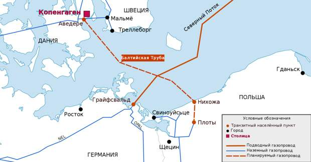 Датский «удар в спину» лишил Польшу надежд на льготный российский газ