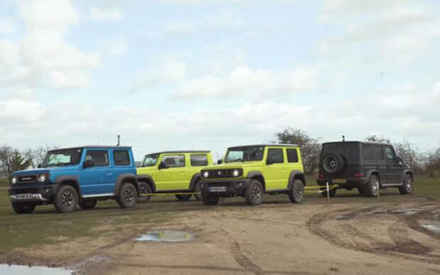 Перетягивание каната: Suzuki Jimny против Геландевагена