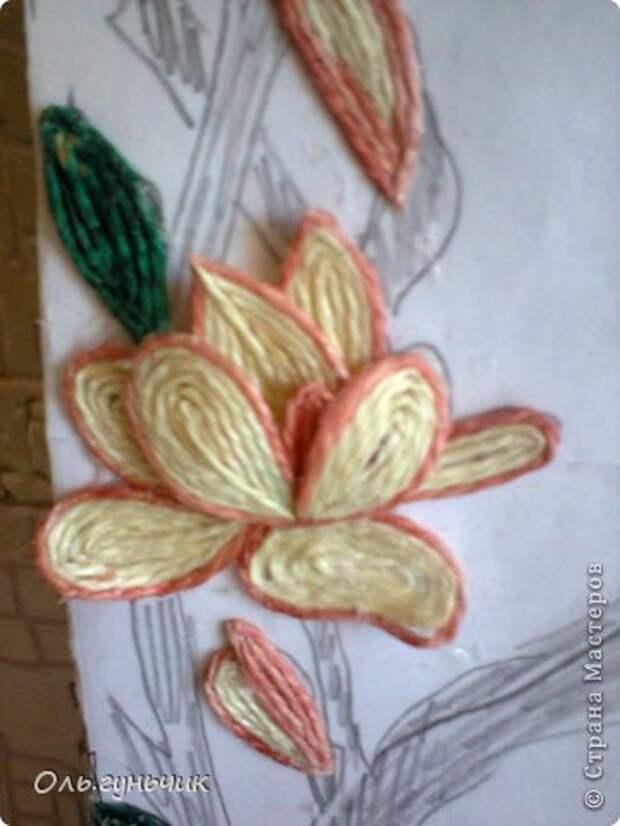 Картина панно рисунок Мастер-класс Моделирование конструирование Филигранный павлин МК Шпагат фото 32