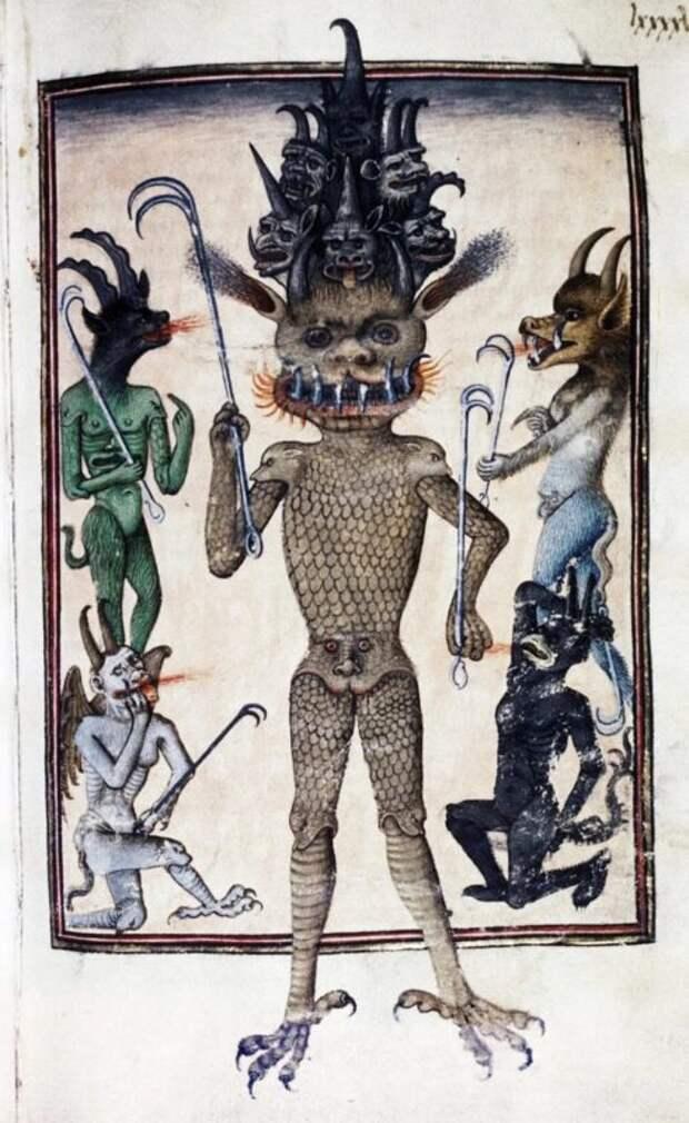 Почему вСредневековье демонов рисовали слицами между ног