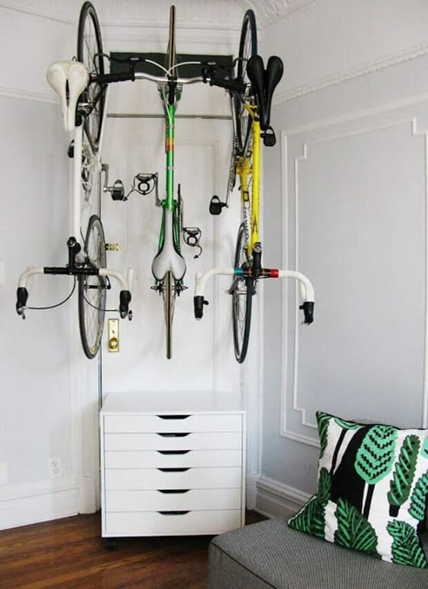 И примеры размещения под потолком Фабрика идей, велосипед, гениально, интересное, сделай сам, хранение